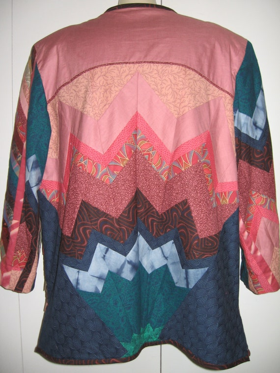Vintage Quilted Jacket/Handmade Quilted Jacket - image 2