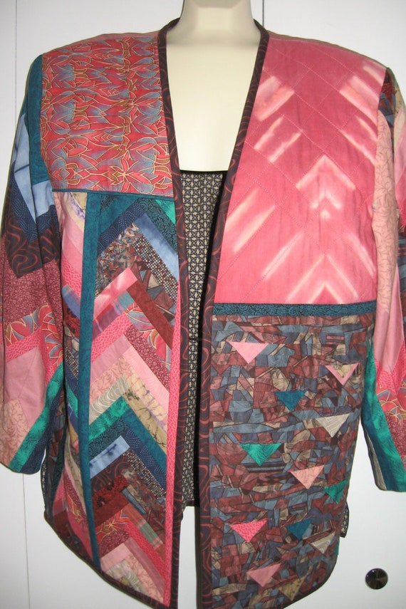 Vintage Quilted Jacket/Handmade Quilted Jacket - image 1