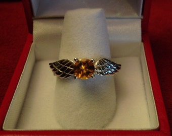 H. Potter Golden Snitch sterling silver ring