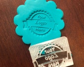 Customized Personalized Clear Hard Acrylic cookie stamp, soap stamp, or clay stamp with words and or images