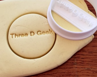 Personalized Round cookie cutter with name or words imprint