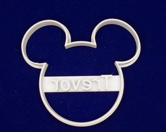 Mickey Mouse PERSONALIZED cookie and fondant cutter