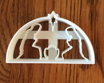 Christmas Nativity cookie and fondant cutter