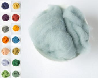 Wool roving for felting / natural merino wool / wool roving / needle felting supplies / crafts and supplies felting / felting wool