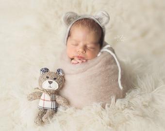 Newborn Photo Prop / newborn posing outfit / baby posing wool fluff / newborn photo prop mini blanket / newborn photography prop boys