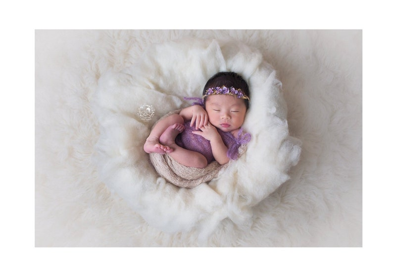 Wool fluff for newborn photography / newborn photo outfit / image 0