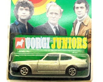 """1980s Vintage Corgi Juniors 64 """"The Professionals CI5"""" Ford Capri 3.00s Toy Collectible. London Weekend Television  - UK. Made in England"""