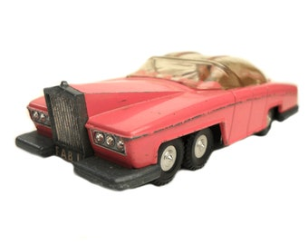"""1960s Vintage Dinky 100 """"Thunderbirds"""" Lady Penelope FAB 1 Rolls Royce Toy Collectible. Made in England"""
