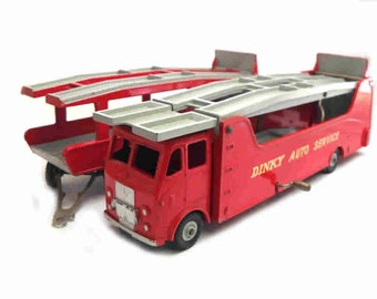 """1950s Vintage Dinky 984 """"Dinky Auto Service"""" Car Carrier Toy Collectible. Made in England."""