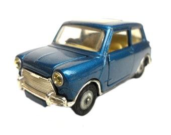 """1960s Vintage Corgi 334 Mini Cooper """"Magnifique"""" Car Toy. Collectible. Made in England"""
