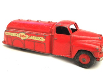 1950s Vintage Dinky 25u Ford Esso Tanker Toy Collectible Made in England