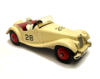 1950s Vintage Dinky 108 MG Midget Competition Racing Car Toy Collectible Made in England