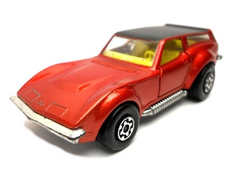 1970s Vintage Matchbox Superkings K-55 Corvette Caper Car Toy Collectible Made in England