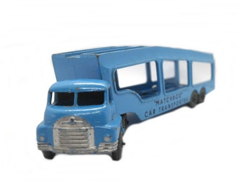 1950s Vintage Matchbox Lesney 2a Bedford Car Transporter. Toy Collectible. Made in England