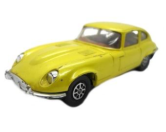 1970s Vintage Corgi 374 E-Type Jaguar 5.3 Litre V12 Sports Car Toy. Collectible. Made in England