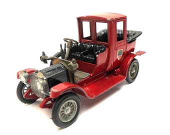 1960s Vintage Matchbox Yesteryear Y11-2 1912 Packard Landaulet Car Toy Collectible Made in England