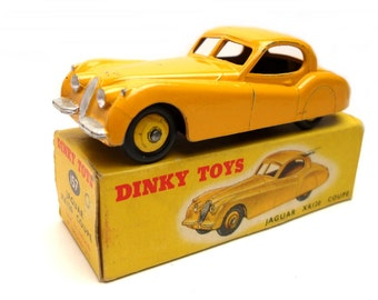 1950s Vintage Dinky 157 Jaguar XK120 Coupe Toy Collectible England