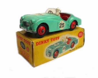 1950s Vintage Dinky 111 Triumph TR2 Competition Racing Car Toy Collectible Made in England