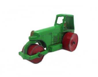 1950s Vintage Matchbox Lesney 1b Aveling Barford Road Roller. Toy Collectible. Made in England