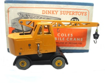 1950s Vintage Dinky 571 Coles Mobile Crane. Toy Collectible. Made in England