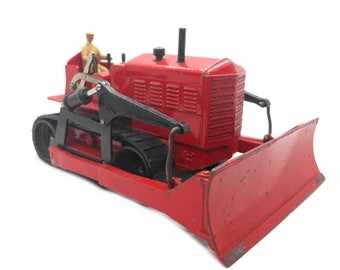 1950s Vintage Dinky 561 Blaw Knox Bulldozer Toy Collectible. Made in England