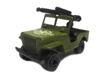 1970s Vintage Matchbox Superfast 38a Armoured Jeep Toy Collectible Made in England