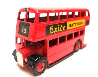 1960s Vintage Dinky 291 London Bus Toy Collectible England