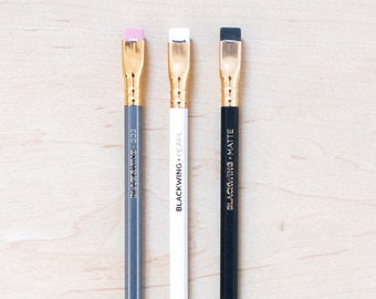 Blackwing Pencil Sampler Set Drawing and Writing Palomino Pencils Incense Cedar Wood Firm Graphite Gifts for Stationery Lovers Pearl 602