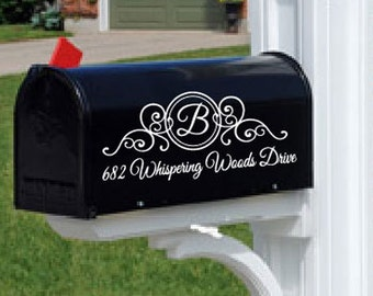 Monogram Mailbox Decal Personalized - 23 Color Choices! Mailbox Lettering - mailbox sticker - mailbox address
