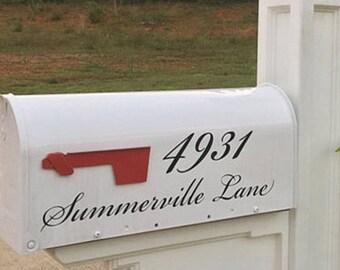 personalized mailbox decal charleston mailbox sticker mailbox letters mailbox numbers mailbox decal custom mailbox sticker