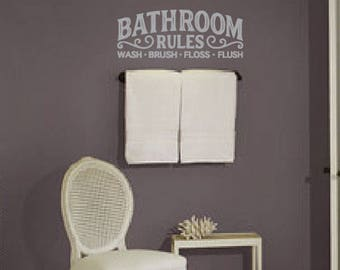Quick View. More Colors. Bathroom Rules Wall Decal ...