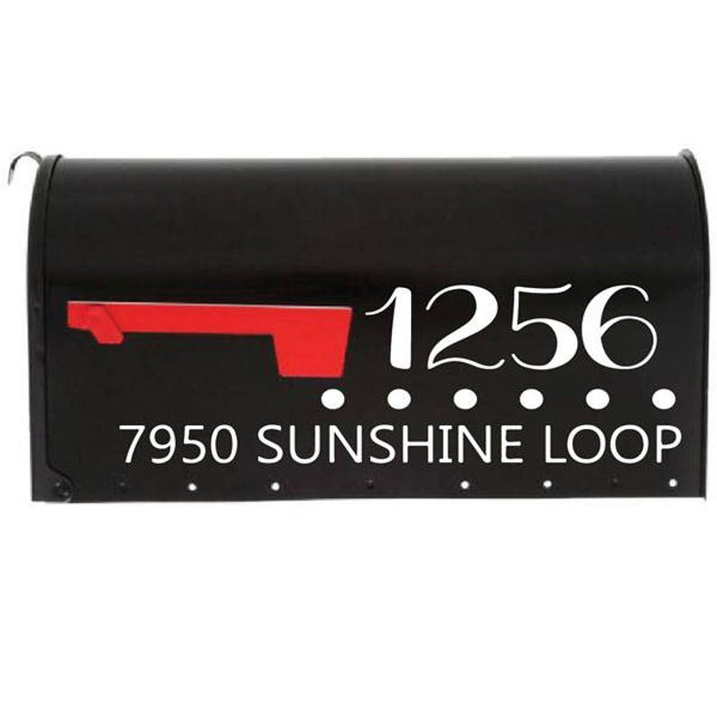 mailbox address mailbox lettering mailbox sticker Personalized Mailbox Decal The Ryan address numbers 23 colors to choose from