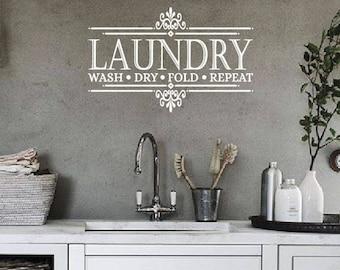 Laundry Room Wall Decal   Laundry Room Decor   Laundry Room Sign   Laundry Sign   Laundry Room Decal    Laundry Decal   Laundry Room Art