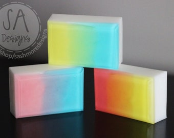 Coconut Mango Scented Goats Milk Soap, Handcrafted Soap, Glycerin Soap, Detergent Free, 4oz.