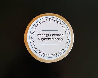 Citrus Scented Soap, Handcrafted Soap, Glycerin Soap, Detergent Free, 3oz.