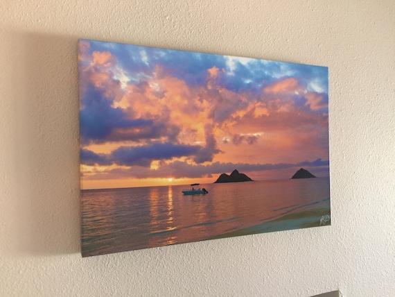 fine art aluminum prints ready to hang hawaii pink | etsy