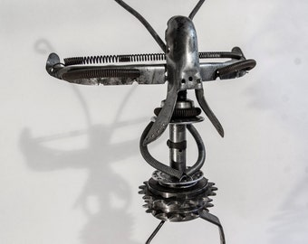 Alien Strut - AS1 - Bicycle parts upcycled walking figure
