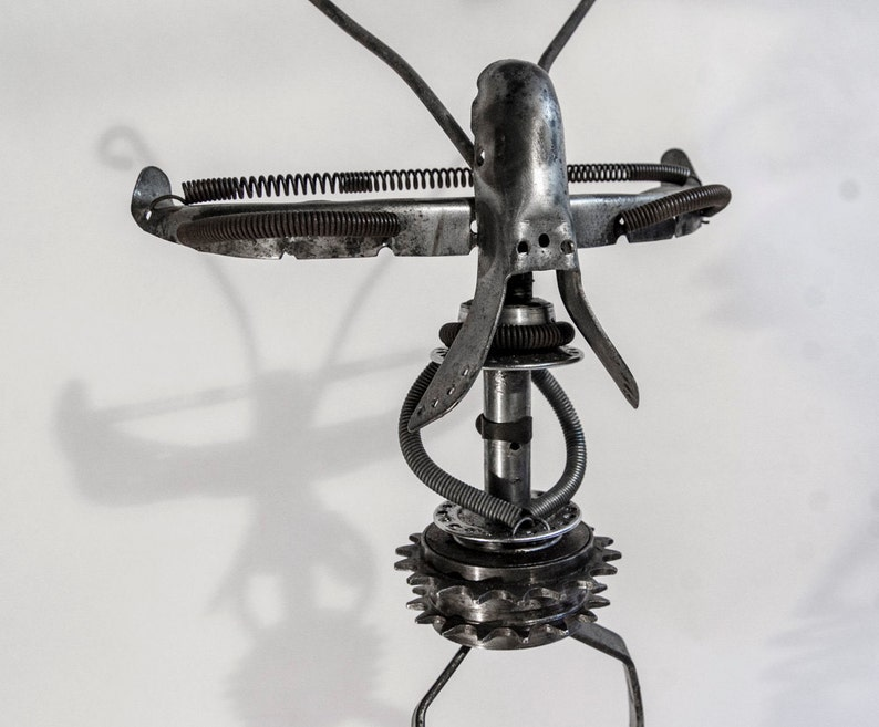 Alien Strut  AS1  Bicycle parts upcycled walking figure image 0