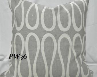 KRAVET- Bodoni Shadow By Jonathan Adler - Decorative Throw Pillow, Lumbar Pillow Cover/ Both Sides / Linen