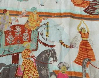 JIM THOMPSON Wedding Parade in Indore Garden-Decorative Lumbar Covers / 100% Linen / Thailand