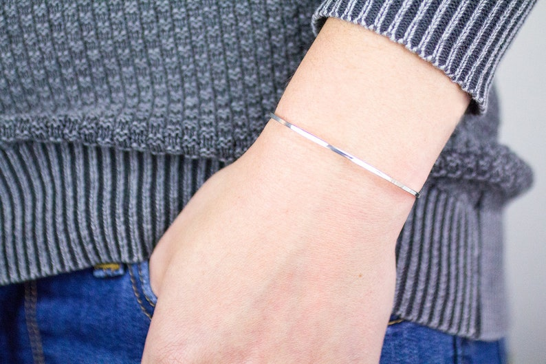 Simple Silver Cuff Bracelet Silver Arm Cuff, Silver Cuff Statement Cuff Cuff Bracelet Blank Skinny Cuff Bracelet Simple Cuff