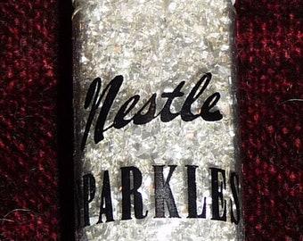 Rare Vintage Nestle Hair Sparkles, Silver Glitter for Your Hair