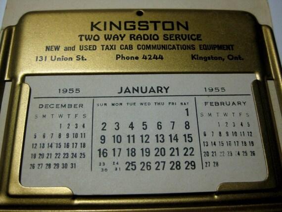 Kingston Two Way Radio Service Advertising Calendar Christmas Card Premium