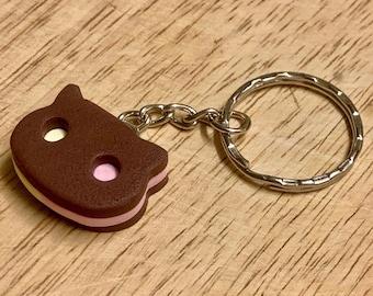 Cookie, Keychain, Cat, Keyring, Charm, Strawberry, Vanilla, Chocolate, Ice Cream, Gift, Magnet, Garnet, Peridot, Cute, Universe, Cosplay, :)