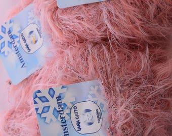 Peach Color Fashion Yarn