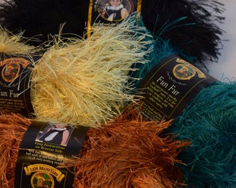Lion Brand Fun Fur Yarn in 4 colors