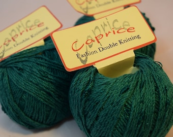 Caprice Cotton Rayon mix in Green 3x50g selling together