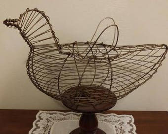 Wire Bird Egg Basket