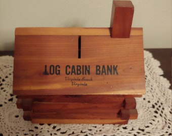 Super Cute Vintage Log Cabin Bank-Virginia Beach, Virginia