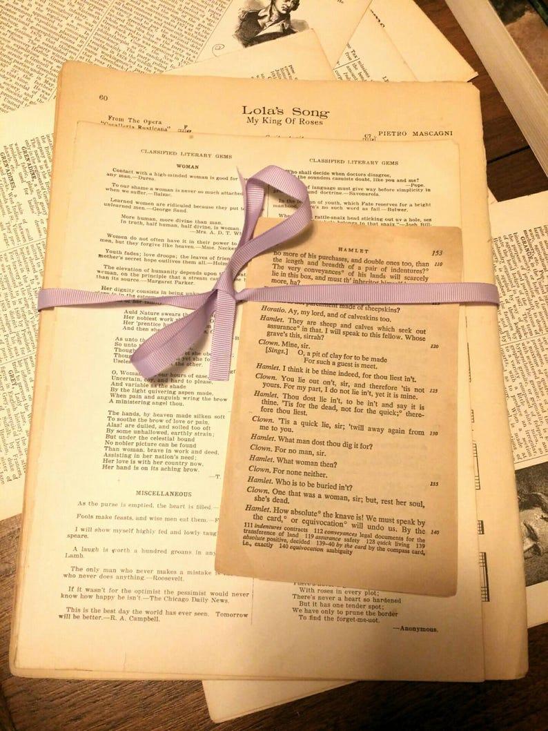 Vintage Noten Papier Epherema Antike Papier Zum Basteln Etsy